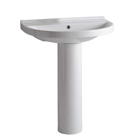 Chrome Sink by Whitehaus Collection Collection Pedestal Combo