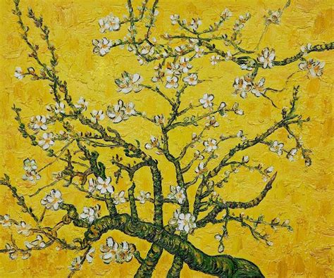 yellow paint sles vincent van gogh branches of an almond tree in blossom