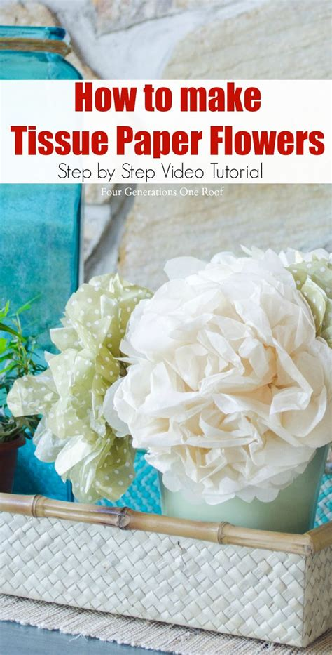 How To Make Tissue Paper Flowers Without Pipe Cleaners - 17 best ideas about tissue paper flowers on