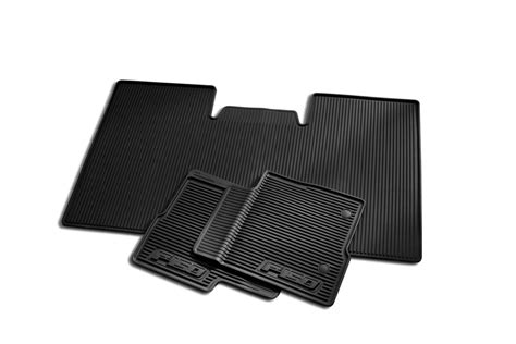 Ford F150 Supercrew Floor Mats by Floor Mats All Weather Thermoplastic Rubber Black 3 Pc