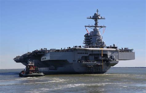 photos future uss gerald r ford supercarrier at sea for