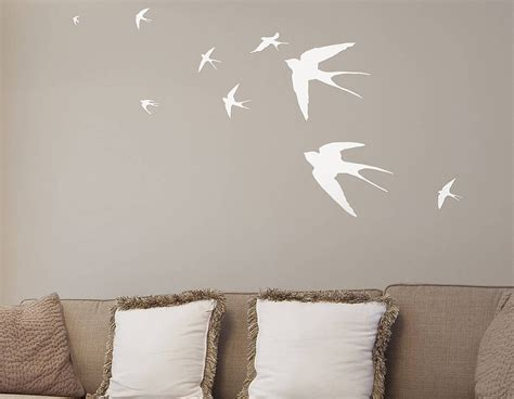 flying swallows vinyl wall sticker contemporary wall stickers