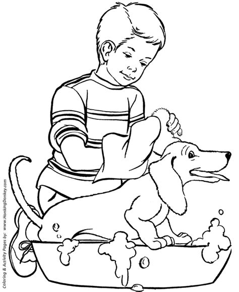 black and white coloring pages of dogs coloring pages printable happy bath coloring