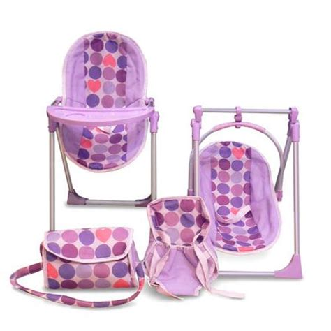 Baby Alive High Chair Set by Sweet Doll Accessory Combo Walmart