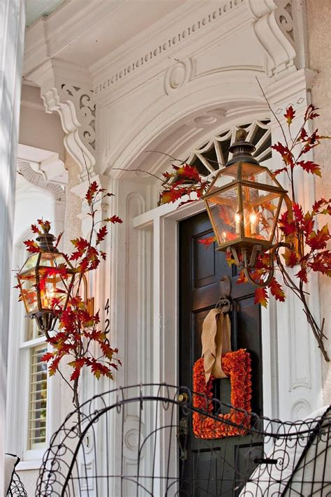 fall entrance decorating ideas 47 and inviting fall front door d 233 cor ideas digsdigs