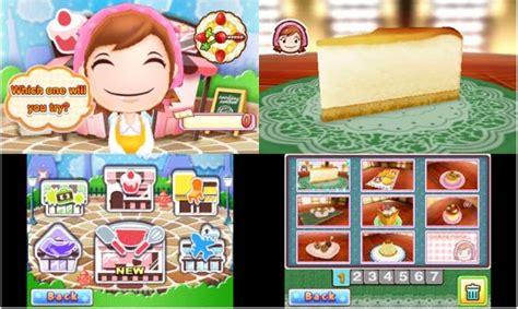 3ds Cooking Sweet Shop Asia info utiles cooking sweet shop sur nintendo 3ds console articles