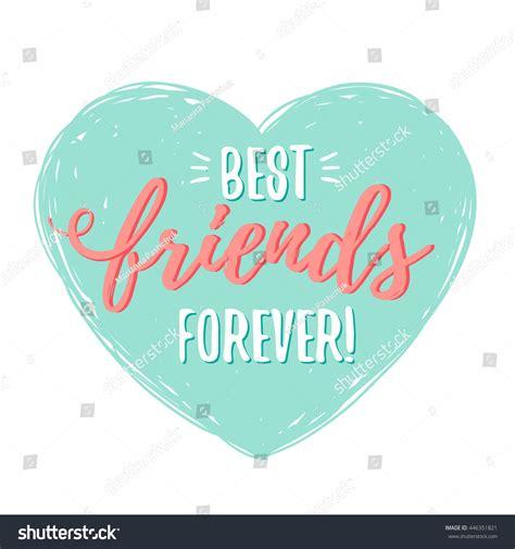 a best friend best friends forever stock vector 446351821