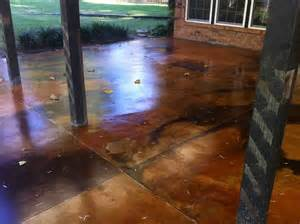 How To Acid Stain Concrete Patio by Concrete Acid Stain Photo Gallery Direct Colors Inc