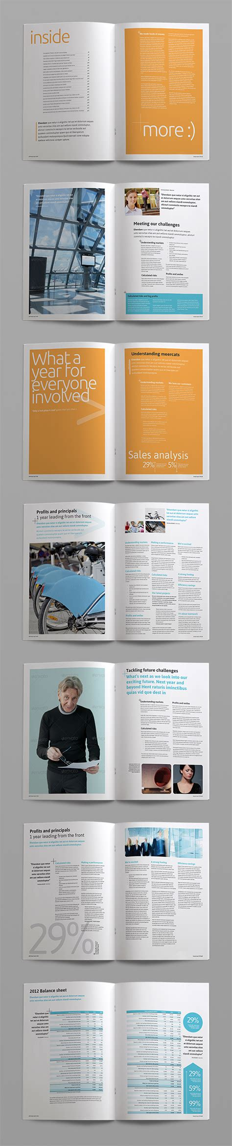 annual report corporate indesign brochure template crs