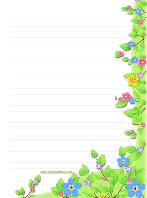 Free Border Templates Free Floral Stationery Stationary Free Printables And Safe Download Border Paper Template 2