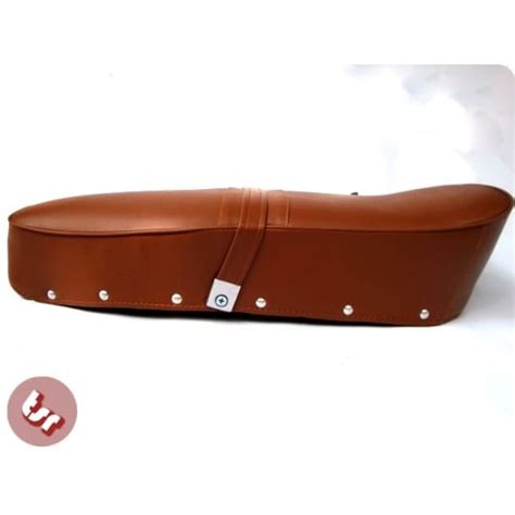 brown leather bench seat lambretta genuine brown leather top quality bench seat from the scooter republic uk