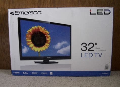 led tv box design 32 quot emerson led flat screen tv new in box nex tech