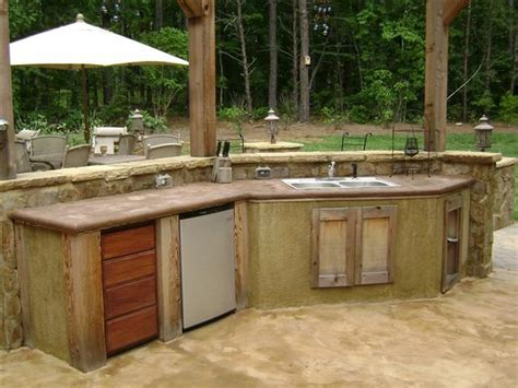 Rustic Outdoor Kitchen Ideas Rustic Outdoor Kitchen Favorite Places Spaces Pinterest