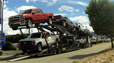 car carrier truck auto transport carrier quick unload gm car pickup