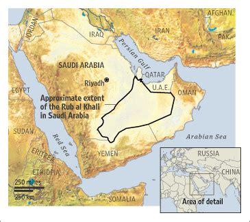 middle east map rub al khali desert saudi desert s gas mirage wsj