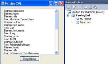 xml tutorial visual studio 2010 introduction to net with vb using visual studio 2010 tutorial