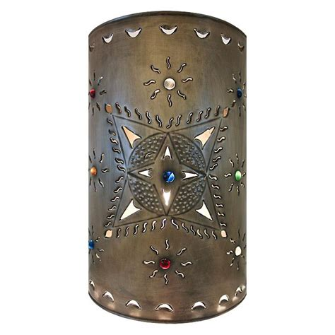 Tin Wall Sconce Mexican Tin Lighting Collection Toluca Wall Sconce Lamw14