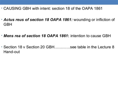 section 18 oapa 1861 lecture 9 offences against property 1