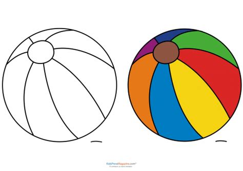 beach ball printable template alltoys for