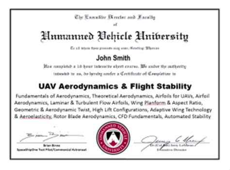 Advanced Uav Aerodynamics Flight Stability And uav aerodynamics certificate unmanned vehicle