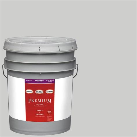 Interior Paint With Primer by Glidden Premium 5 Gal Hdgcn61 Universal Grey Eggshell