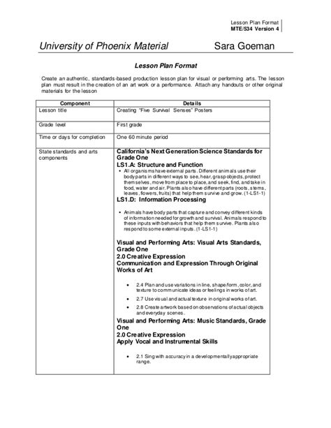 integrated lesson plan template mte534 ltd integrated unit
