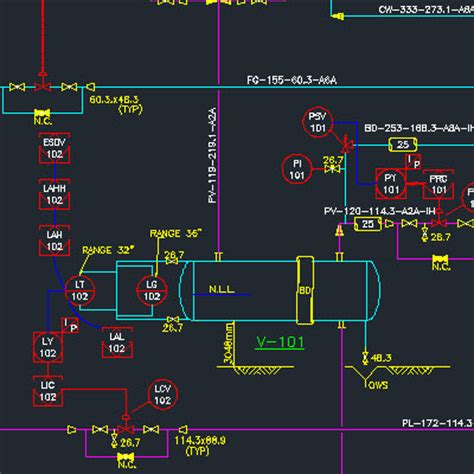 Drawing P Id In Autocad by P Id And Pfd Oilandgasclub