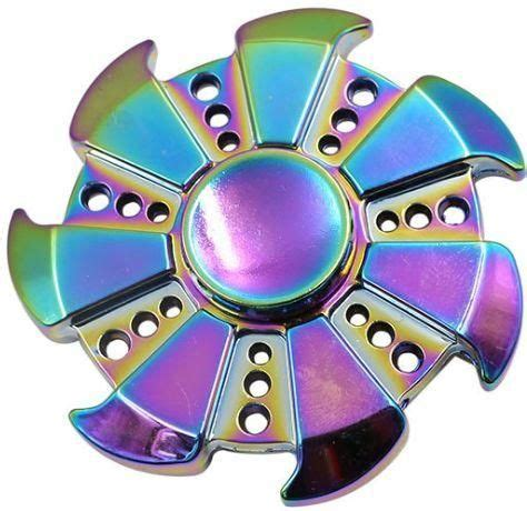Sale Fidget Spinner 3 Baling Garis souq colourful fidget spinner metal material edc spinner for high speed relieving adhd uae