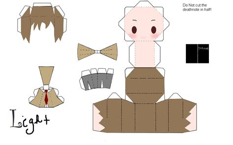 Chibi Papercraft - chibi light yagami papercraft by imaginativeauthor on