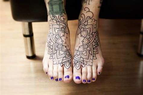 mandala ankle tattoo foot mandala with color margo lovely ink