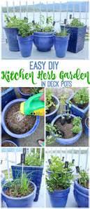 Diy Herb Garden easy diy kitchen herb garden in deck pots the happy housie