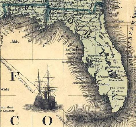 florida historical maps early map for flagler railroad in florida