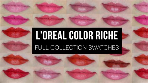 l or 233 al color riche collection swatches
