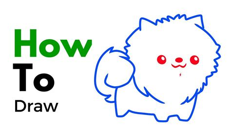 how to a pomeranian how to draw a pomeranian step by step clipart best