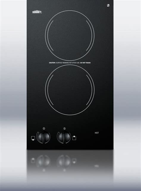 smoothtop electric cooktop cr2220 summit 12 quot smoothtop electric cooktop 220v