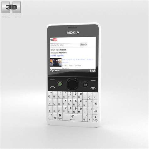 Nokia Asha 210 nokia asha 210 white 3d model humster3d