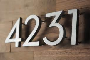 What S The House Number How To Make Your Own Mid Century Modern House Numbers