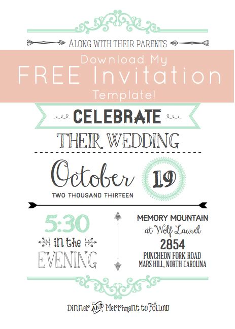 Free Wedding Invitation Templates Cyberuse Wedding Invitation Sles Free Templates
