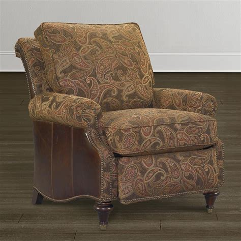 oxford recliner oxford leather accent recliner by bassett bassett chairs