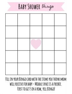 baby bingo card template free printable baby shower frugal fanatic