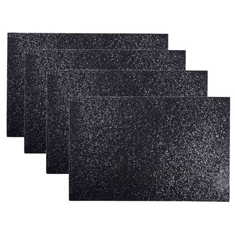 Black And White Table Mats by Set Of 4 Sparkly Glitter Placemats Dining Table Place