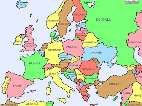 map for europe europe map study