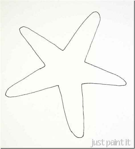 starfish template seashell and starfish pattern printables just paint it