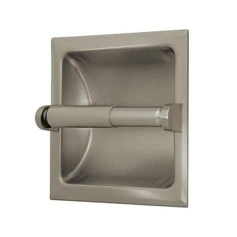 gatco recessed toilet paper holder  satin nickel   home depot