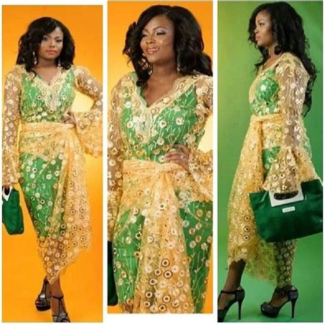 laces asobi green dress layered with gold lace nigerian wedding bride