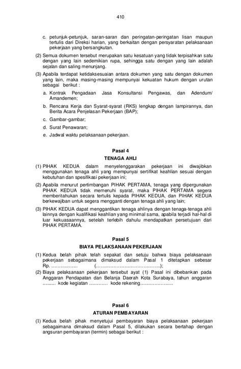 2 kontrak konsultan pengawas