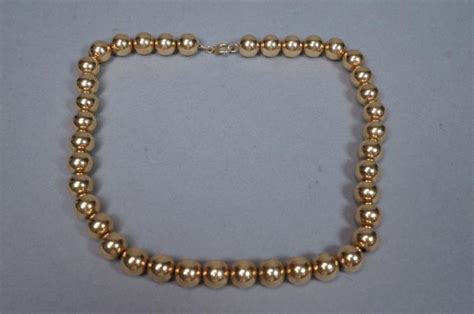 14k gold add a bead necklace 14k yellow gold add a bead necklace large 3 8 quot b