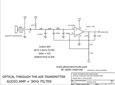 optical integrated circuit schematics audio 3khz filter electronic circuits kits do it yourself circuit diagrams design