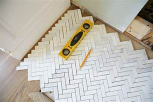 Installing Marble Tile How To Install A Marble Herringbone Fireplace Surround And Hearth