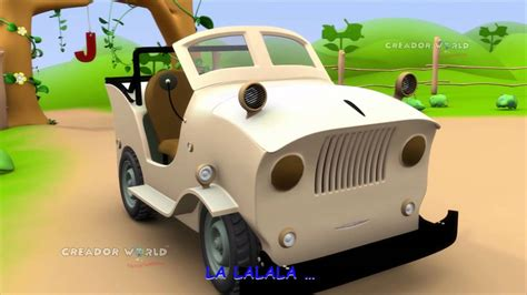 Jeep Song Jeep Rhymes Alphabet Song 3d Nursery Rhymes For J